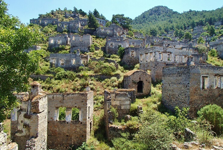 KayaköyI Ghost Town I Exclusive Bluecruise Tour Itinerary 3 I Luxury privat crewed Yacht Princess Funda I Photo Pixabay