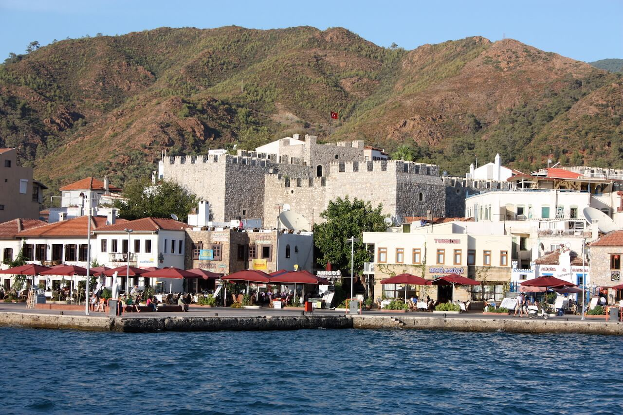 Cruise with Luxury Princess Funda Gulet Yacht at harbor Marmaris Turkey